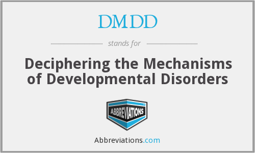 What does DMDD stand for?