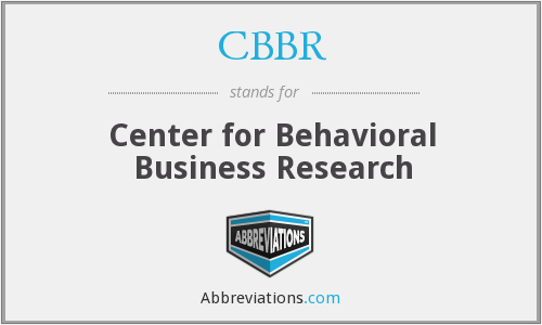 What does CBBR stand for?