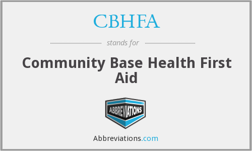What does CBHFA stand for?