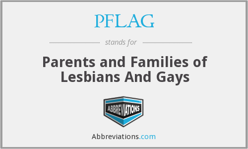 What does PFLAG stand for?
