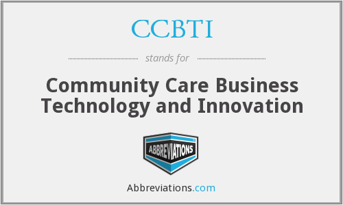 What does CCBTI stand for?