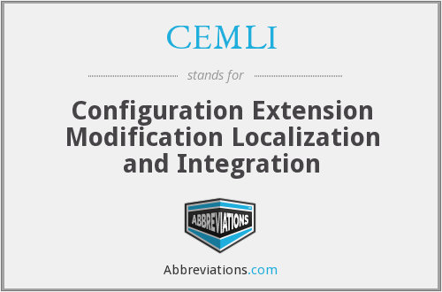 What does CEMLI stand for?