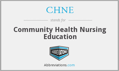 What does CHNE stand for?