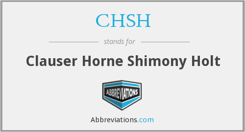 What does CHSH stand for?