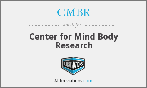 What does CMBR stand for?