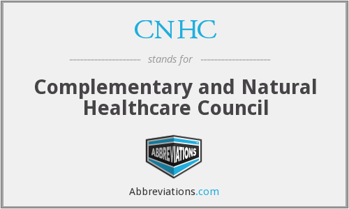 What does CNHC stand for?