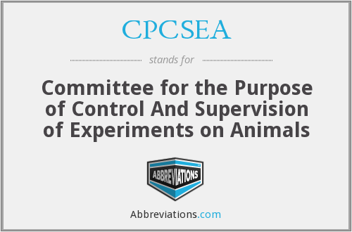 What does CPCSEA stand for?