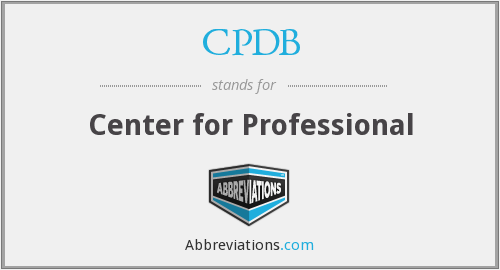 What does CPDB stand for?