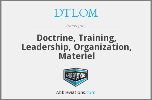 What does DTLOM stand for?