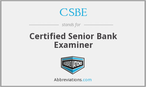 What does CSBE stand for?