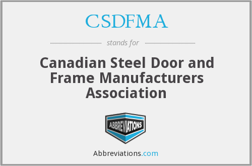 What does CSDFMA stand for?