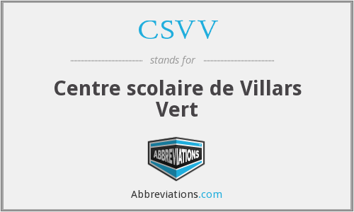 What does CSVV stand for?