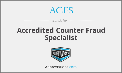 What does ACFS stand for?