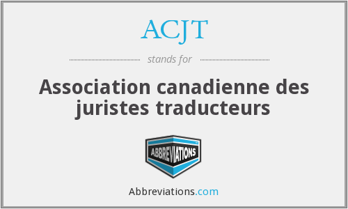 What does ACJT stand for?