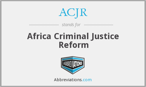 What does ACJR stand for?