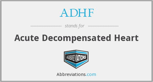 What does ADHF stand for?