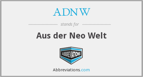 What does ADNW stand for?