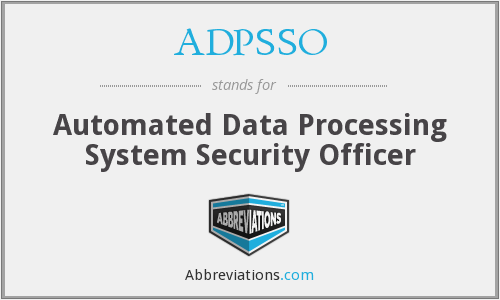 What does ADPSSO stand for?