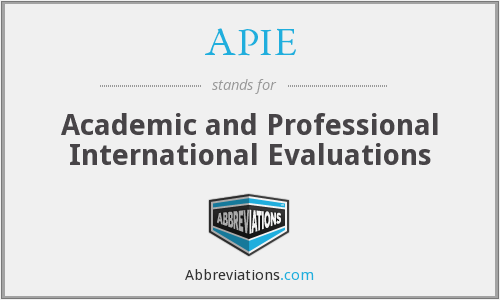 What does APIE stand for?