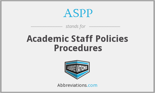 What does ASPP stand for?