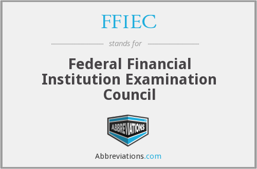What does FFIEC stand for?