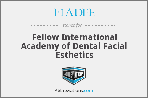 What does FIADFE stand for?
