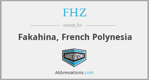 What does FHZ stand for?