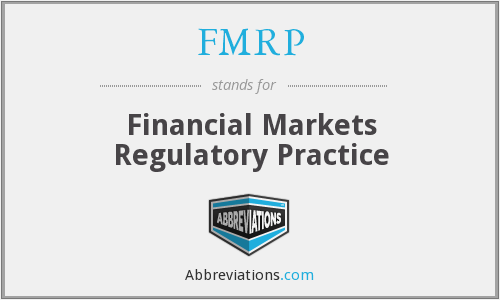 What does FMRP stand for?