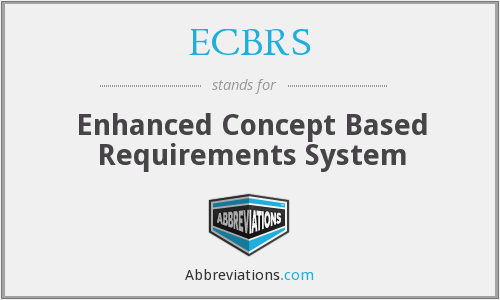 What does ECBRS stand for?