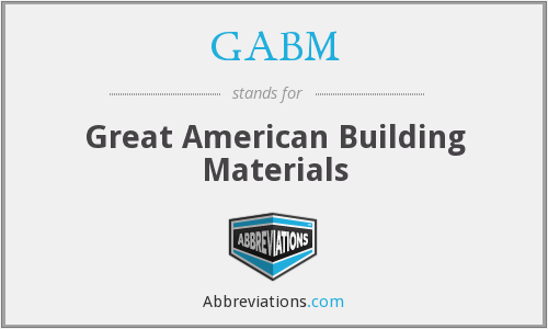What does GABM stand for?