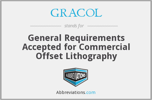 What does GRACOL stand for?