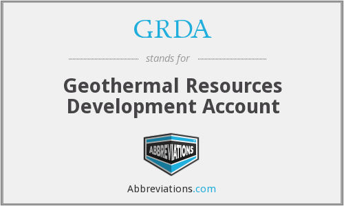 What does GRDA stand for?