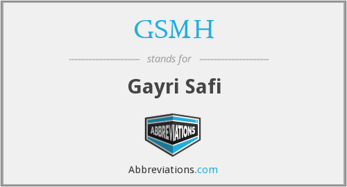 What does GSMH stand for?