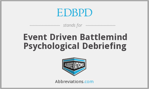 What does EDBPD stand for?