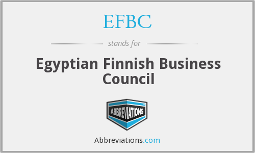 What does EFBC stand for?