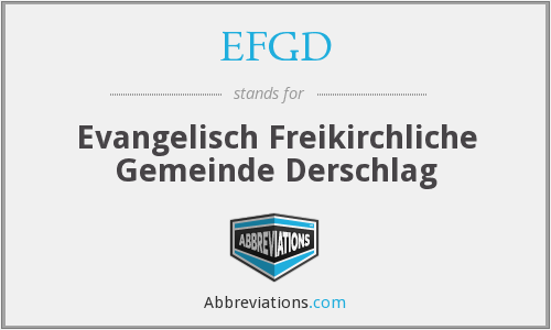What does EFGD stand for?