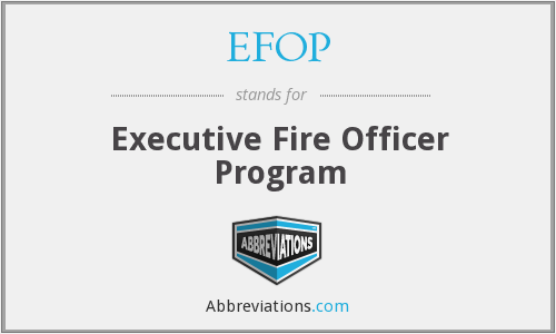 What does EFOP stand for?