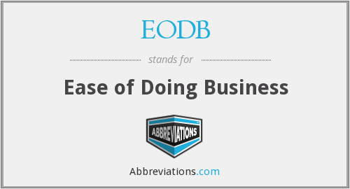 What does EODB stand for?