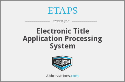 What does ETAPS stand for?
