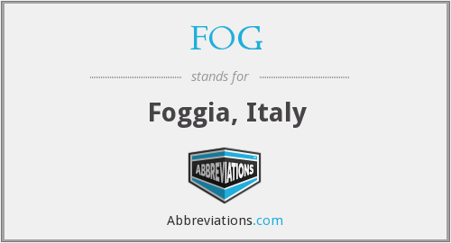 What does FOG stand for?