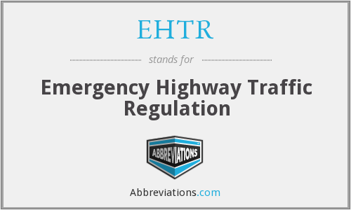 What does EHTR stand for?