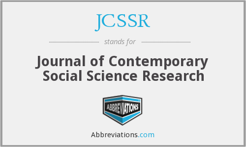 What does JCSSR stand for?
