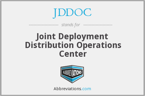 What does JDDOC stand for?