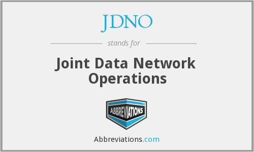 What does JDNO stand for?