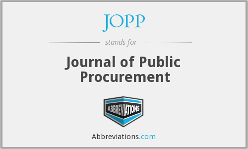 What does JOPP stand for?