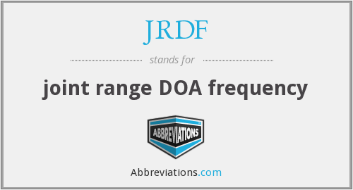 What does JRDF stand for?