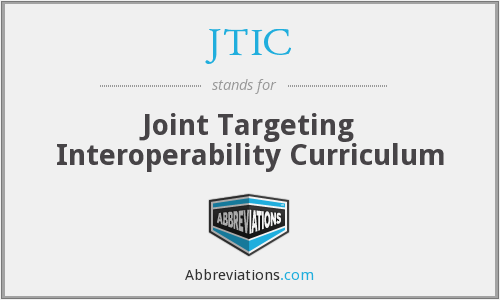 What does JTIC stand for?