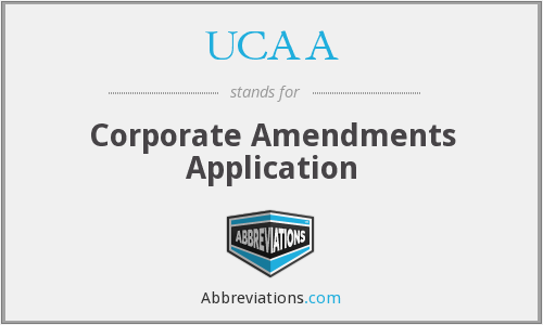 What does UCAA stand for?