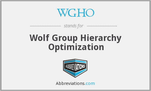 What does WGHO stand for?
