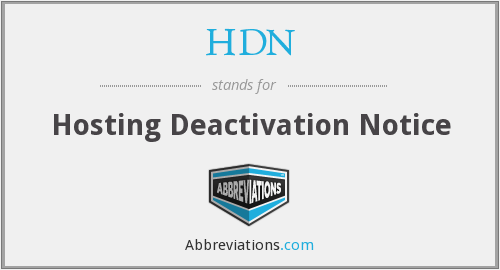 What does HDN stand for?